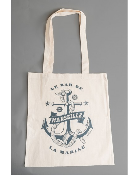 "TOTE BAG "" LE BAR DE LA MARINE MARSEILLE"""