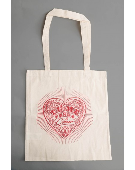 "TOTE BAG ""TU ME FENDS LE COEUR"""